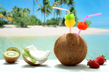 relax and have a tropical drink in one of the caribbean islands